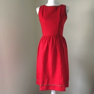 Vintage 50's Lanz Red Wool Fit & Flare Dress